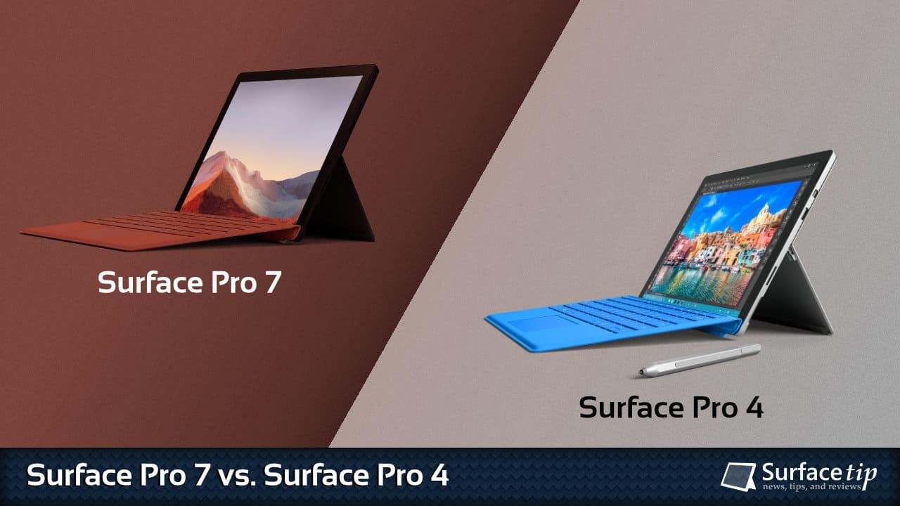 Surface Pro 7 vs. Surface Pro 4