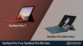 Surface Pro 7 vs. Surface Pro 5