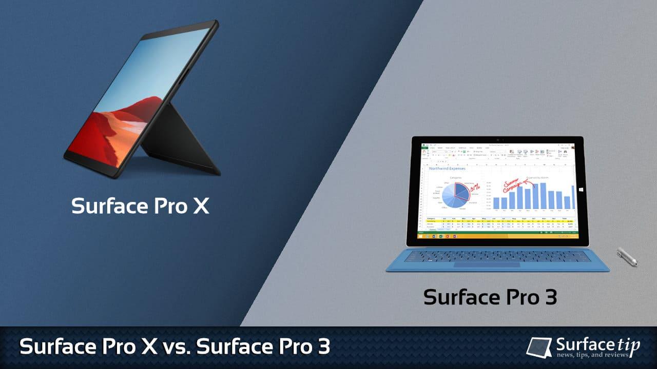 Surface Pro X vs. Surface Pro 3