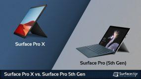 Surface Pro X vs. Surface Pro 5