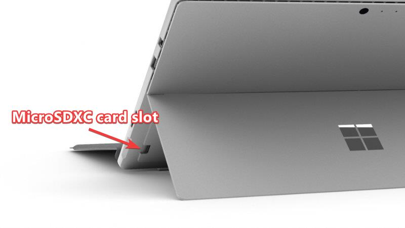 Surface Pro 6 MicroSDXC card slot
