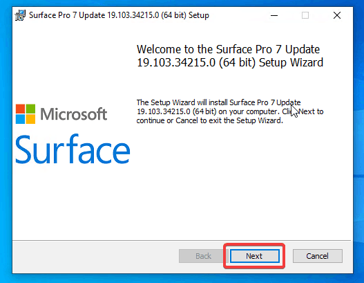 Install Surface Pro 7 Firmware Step 1
