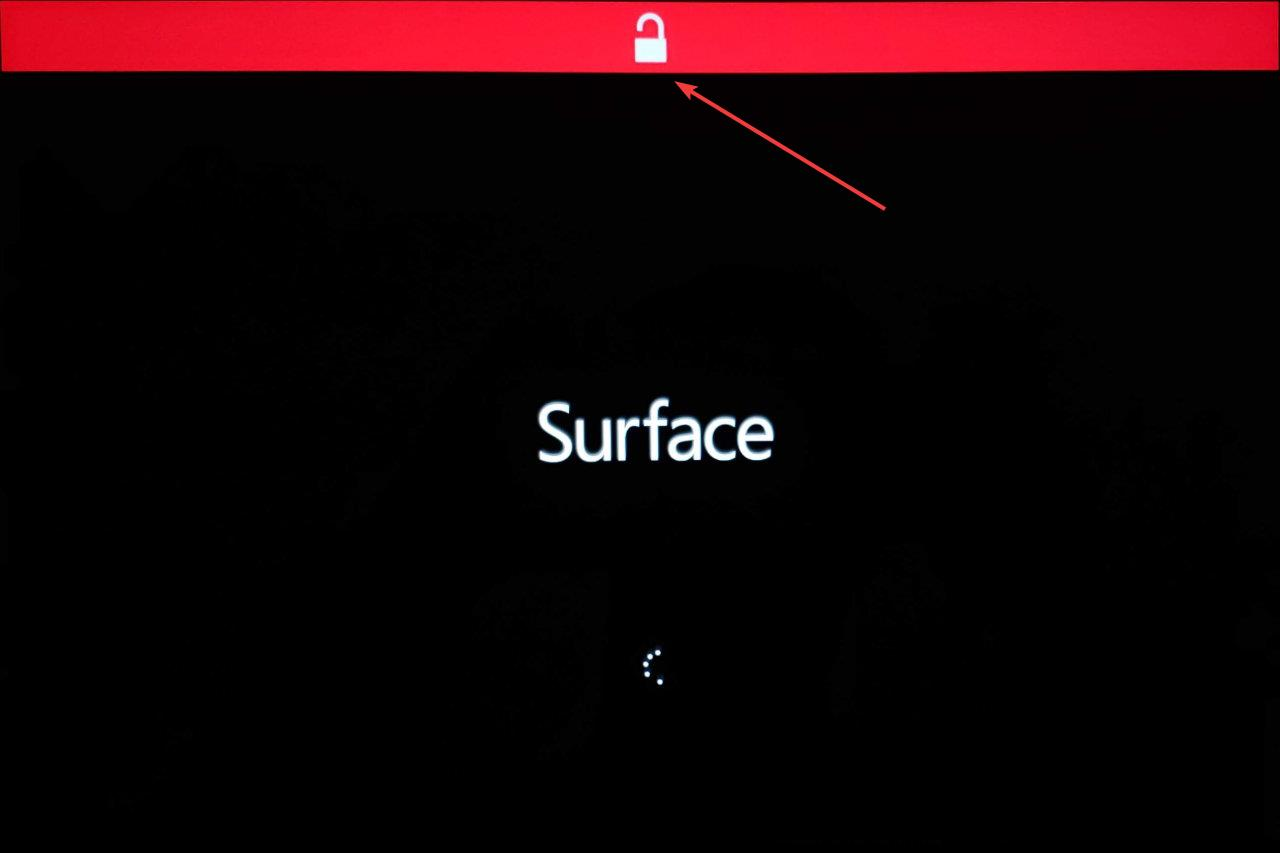 Disable Secure Boot on Surface Book 005