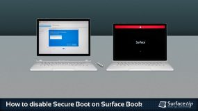 How to disable secure boot on Microsoft Surface Book