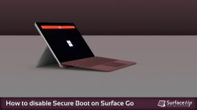 How to disable secure boot on Microsoft Surface Go