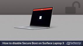 Disable Secure Boot on Surface Laptop 3