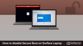 Disable Secure Boot on Surface Laptop