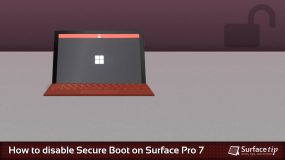 How to disable secure boot on Microsoft Surface Pro 7