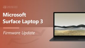 Surface Laptop 3 Firmware Update