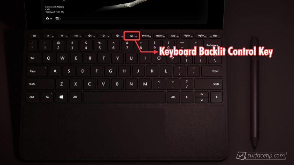 Surface Go Keyboard Backlit