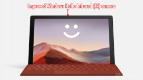 Surface Pro 7 Windows Hello Face Authentication