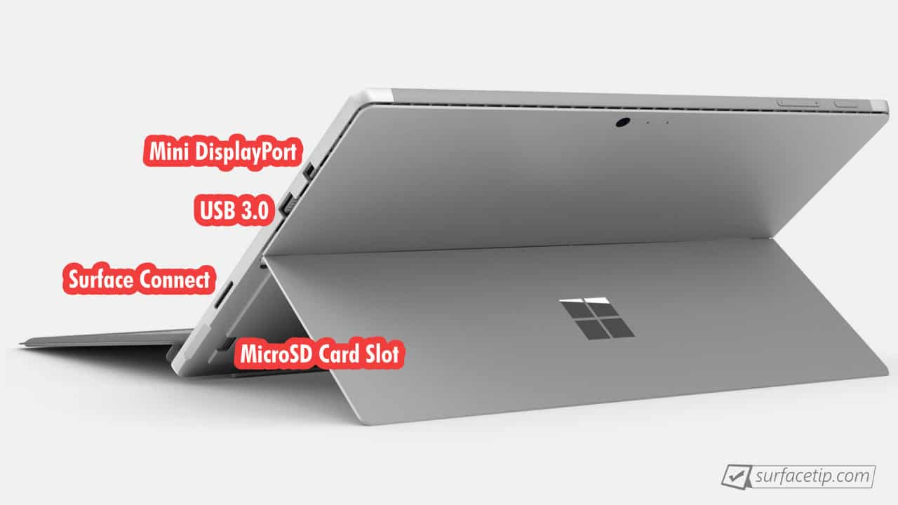 What's ports on Microsoft Surface Pro 6?Surface Tip