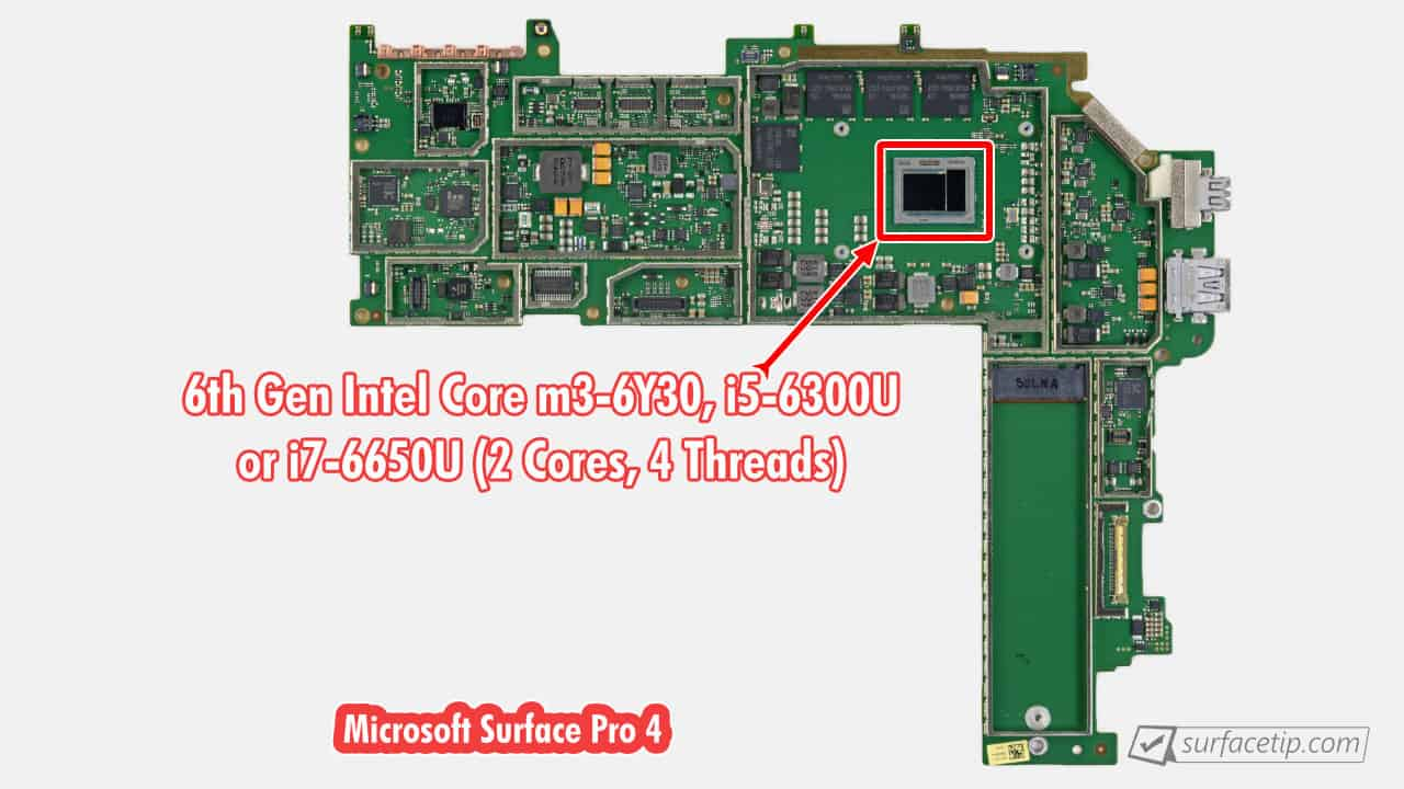 Surface Pro 4 CPU