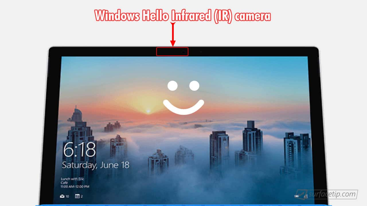 Surface Pro 4 Windows Hello Face Authentication