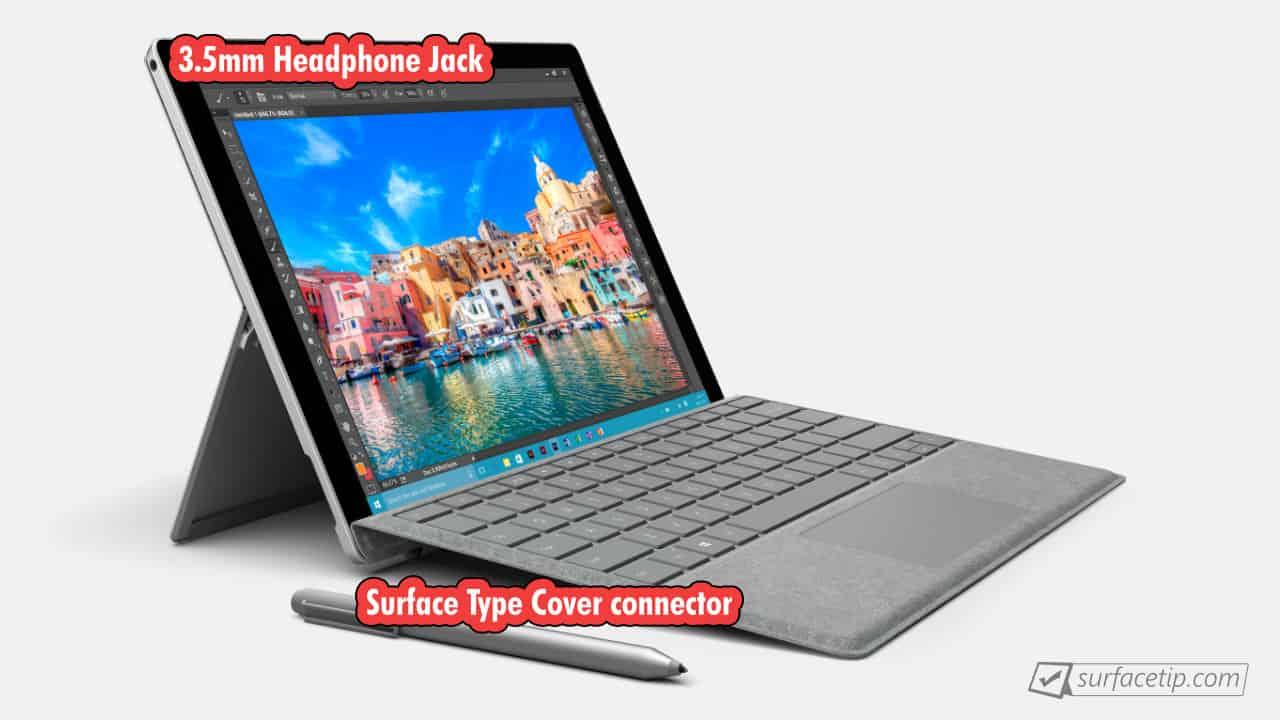 Surface Pro 4 Port Left