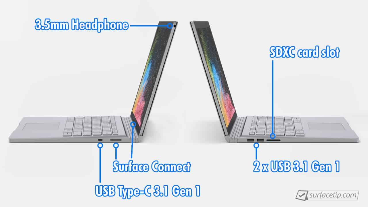 Surface Book 2 Ports