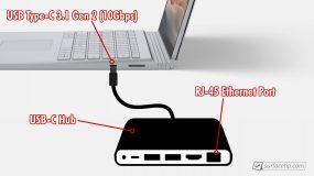 Surface Book 3 Ethernet port