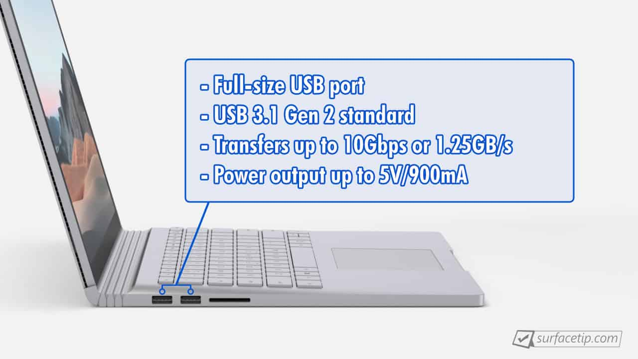 Surface Book 3 USB-A Info