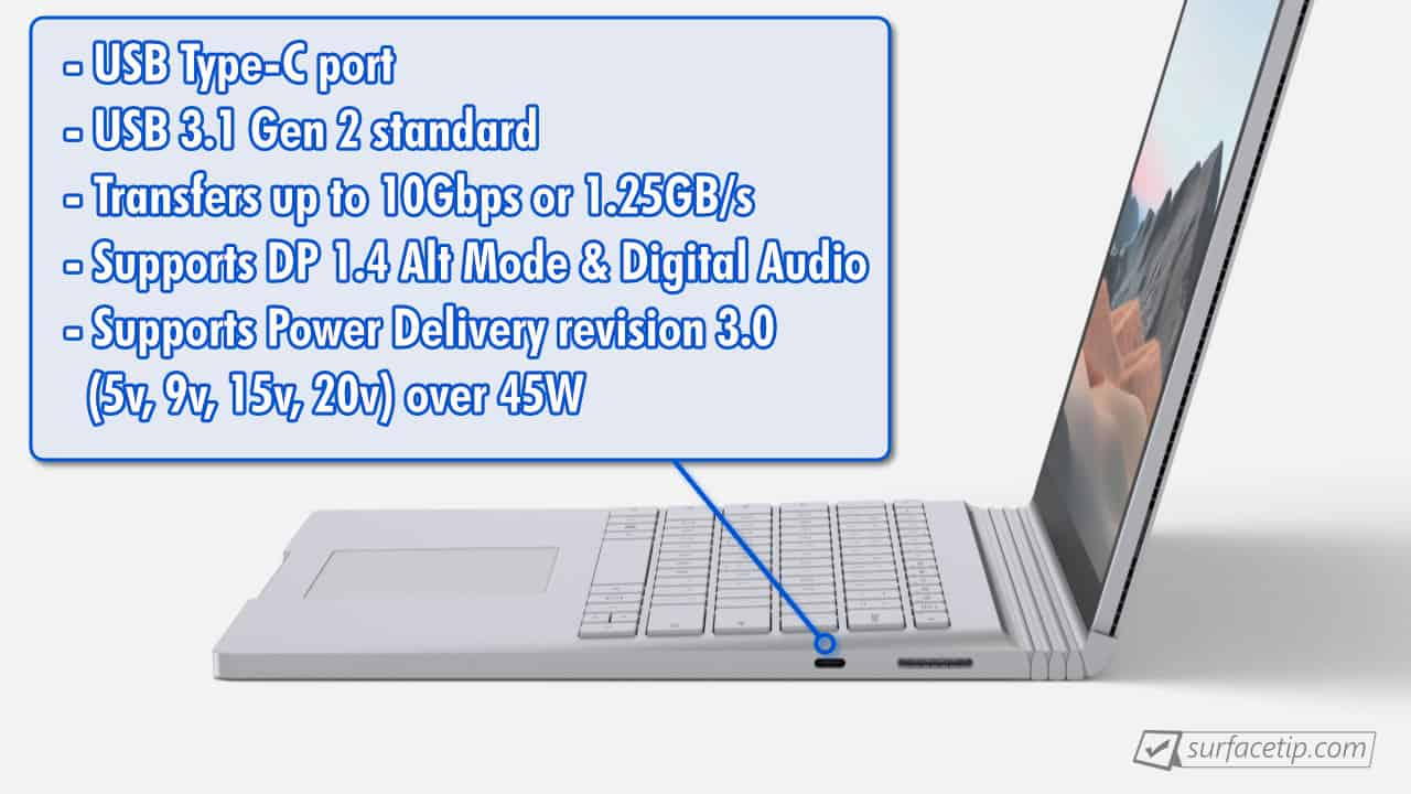 Surface Book 3 USB-C Info