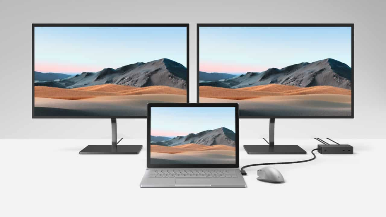 Surface Book 3 with Surface Dock 2
