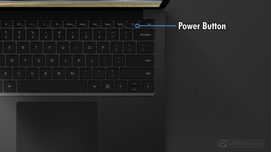 Surface Laptop 3 Power Button