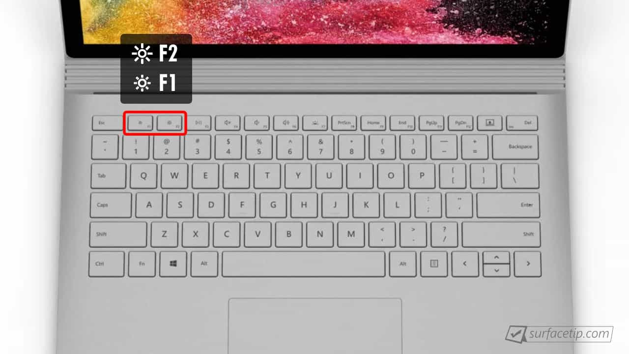 Surface Book 2 Brightness Control Keys