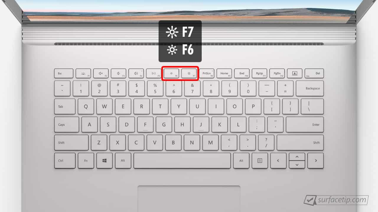 Surface Book 3 Brightness Control Keys