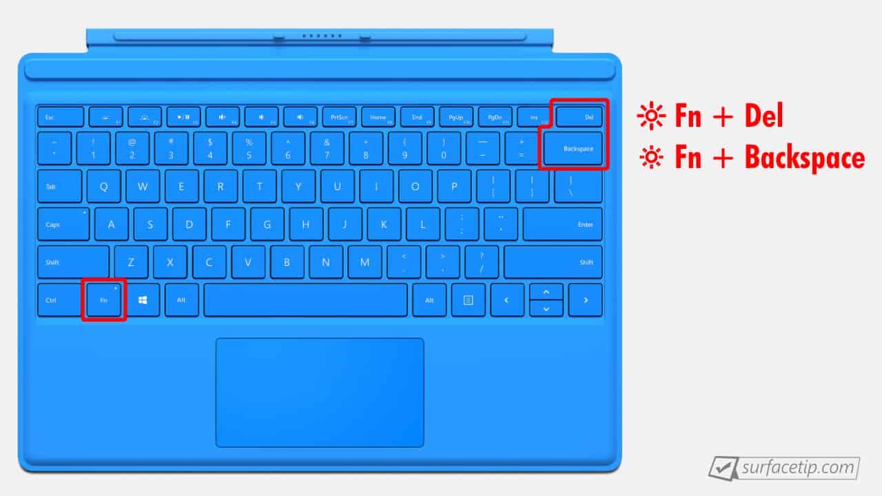 Surface Pro 4 Brightness Control Keys