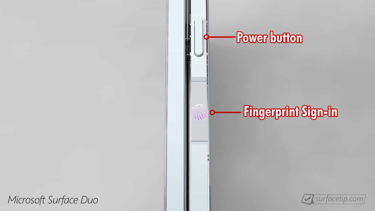 Surface Duo Fingerprint Reader