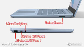 Surface Laptop Go Port's Information