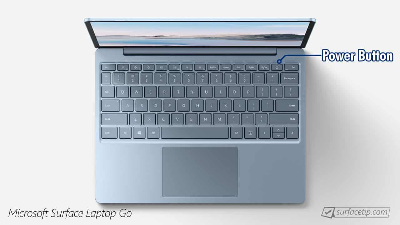 Surface Laptop Go Power Button