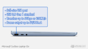 Surface Laptop Go USB-A Information