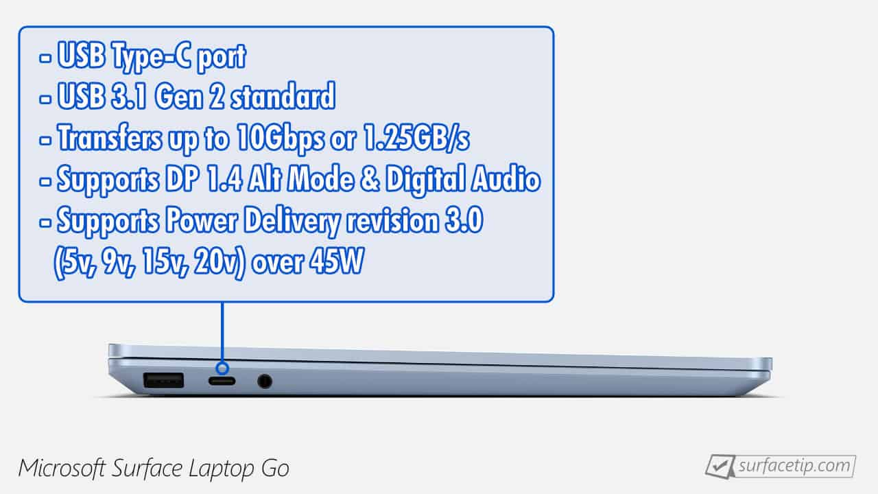 Surface Laptop Go USB-C Information