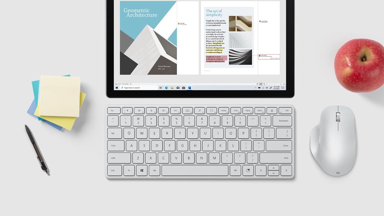 Microsoft Designer Compact Keyboard Set