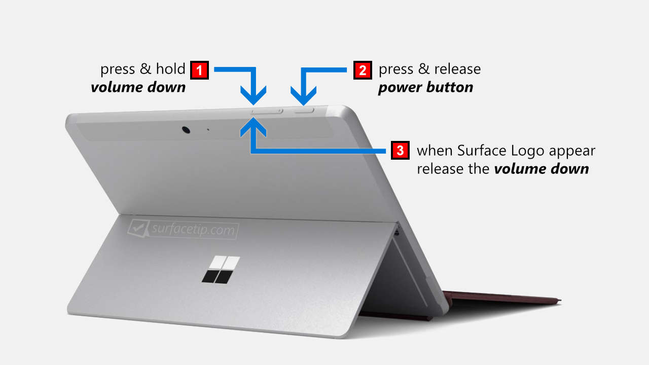 Boot Surface Go from USB - Steps