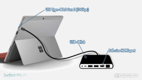 Does Surface Pro 7+ have HDMI port?