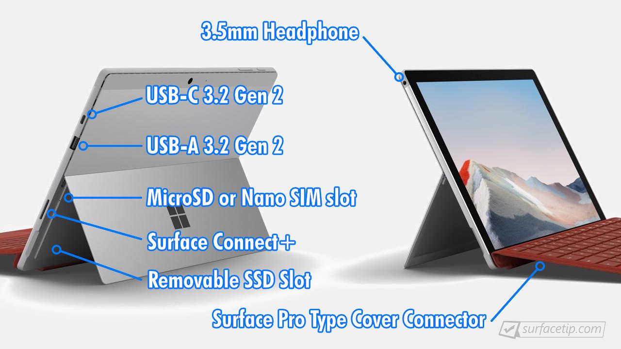 Surface Pro 7 Plus Ports
