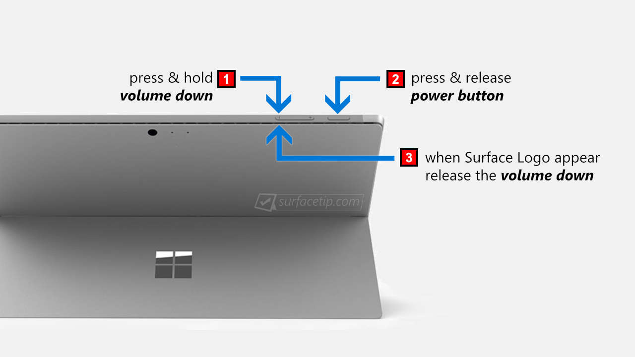 Boot Surface Pro from USB Steps