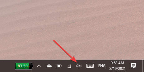 Right-click on the Speakers icon
