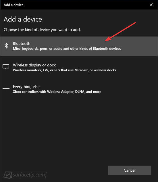 Settings App > Add a Bluetooth device