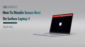 How to disable Secure Boot on Surface Laptop 4