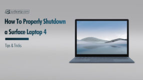 How to shutdown Surface Laptop 4