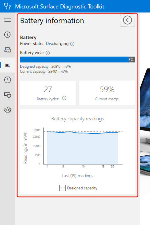 Surface Diagnostic Toolkit: Battery Information