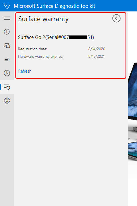 Surface Diagnostic Toolkit: Surface Warranty