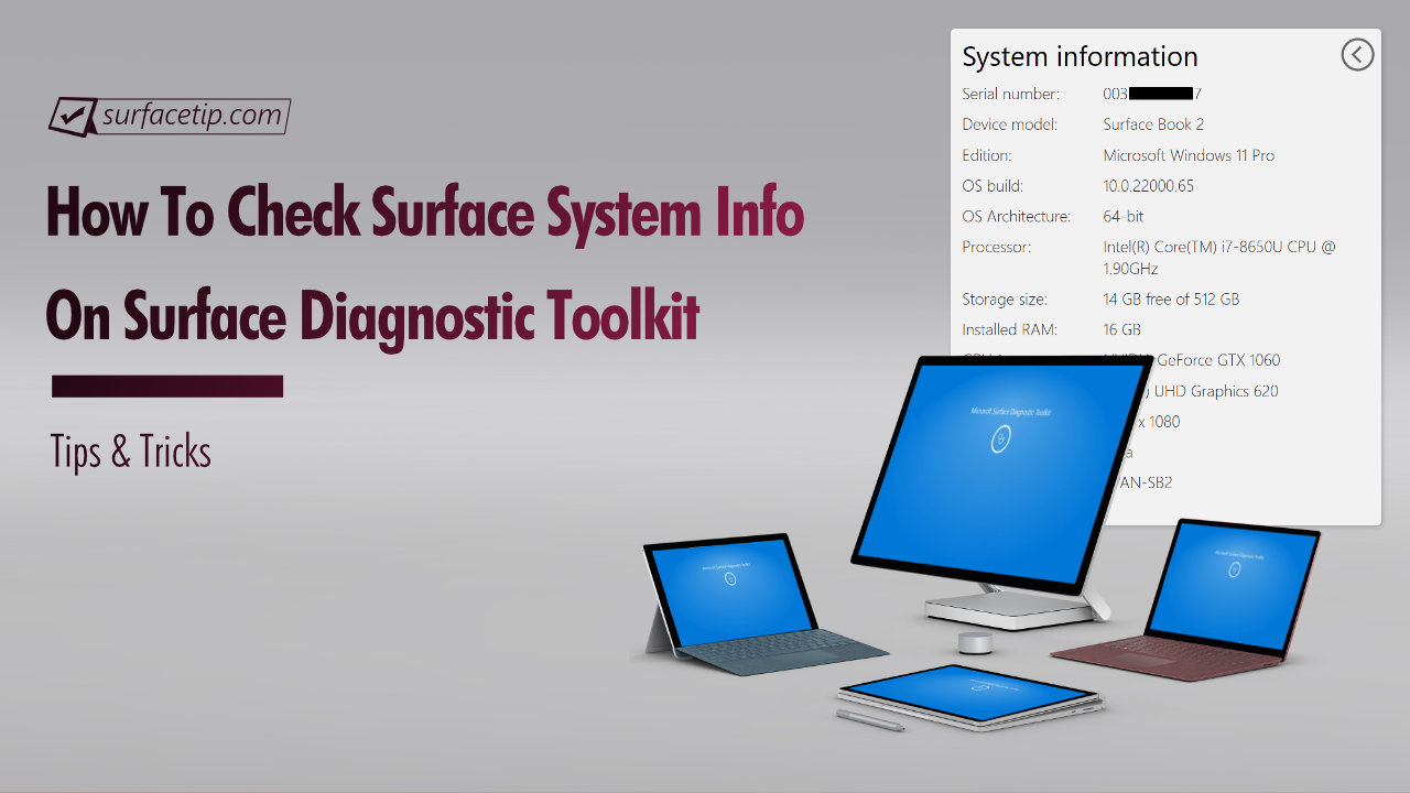 Surface Diagnostic Toolkit: Check Surface System Information