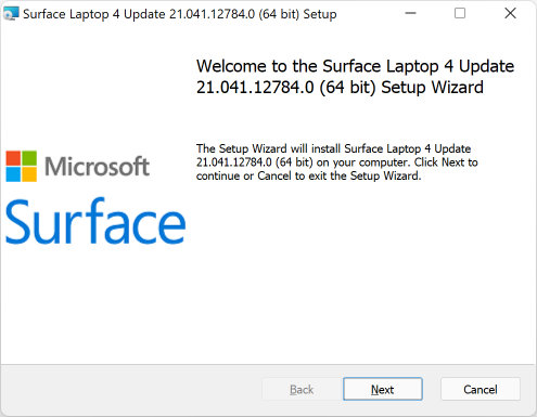Surface Laptop 4 Drivers and Firmware Installation