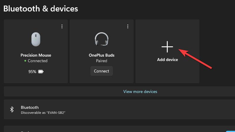 Settings - Add a device