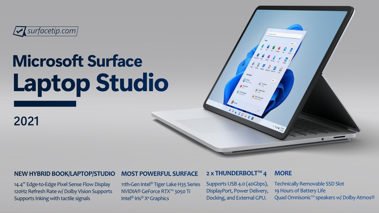 Surface Laptop Studio Specs