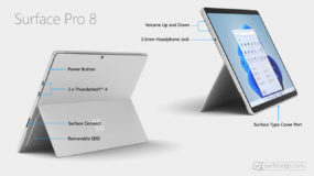 What's ports on Microsoft Surface Pro 8?